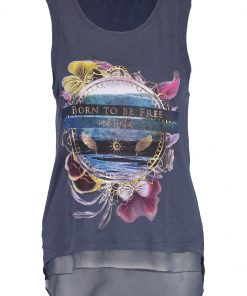 ONLY ONLSOUL Top ombre blue