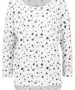 ONLY ONLCASA ELCOS Camiseta manga larga cloud dancer/black