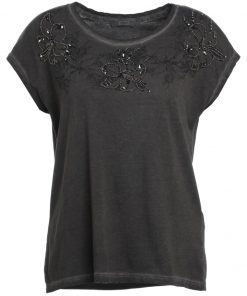 ONLY ONLFLOWER PAKO  Camiseta print dark grey melange