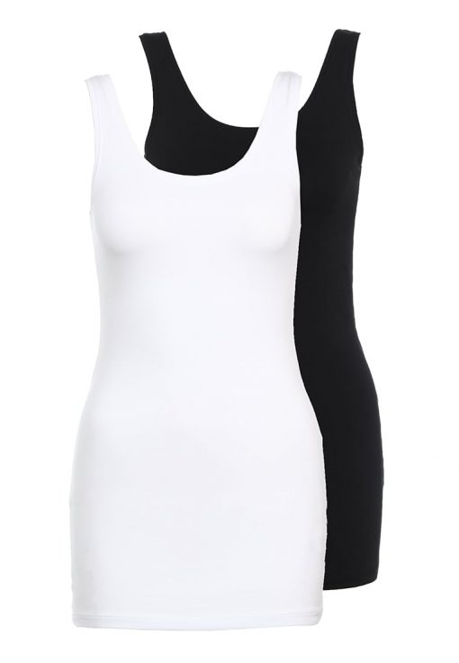 ONLY ONLLIVE LOVE NEW 2PACK Top black/white