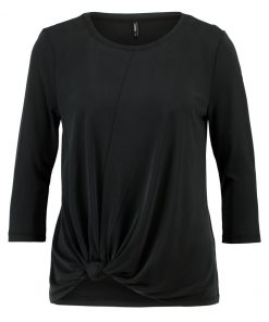ONLY ONLMILEY KNOT Camiseta manga larga black