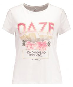 ONLY ONLNEW MADDIE DAZE CRANE Camiseta print cloud dancer