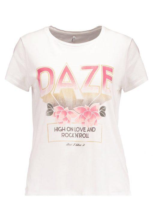 ONLY ONLNEW MADDIE DAZE CRANE Camiseta print cloud dancer
