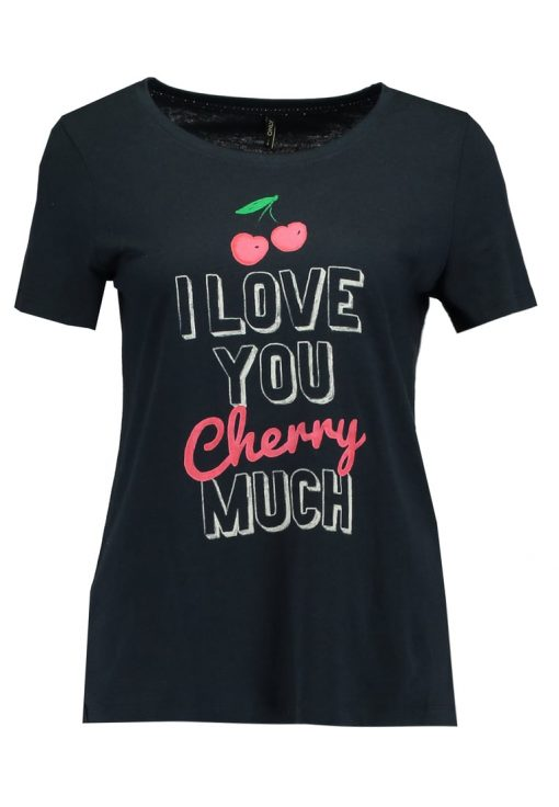 ONLY ONLMELON CHERRY  Camiseta print sky captain/love
