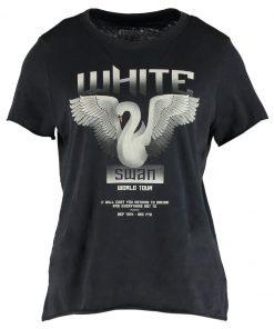 ONLY ONLMOLLIE LOTUS SWAN Camiseta print black/swan