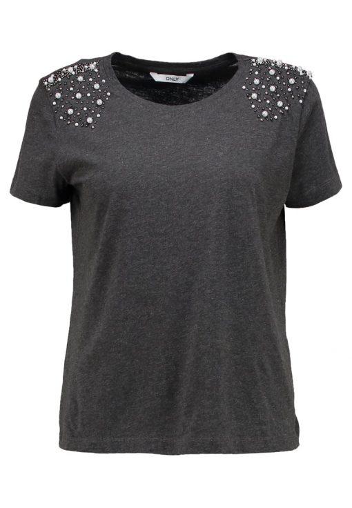 ONLY ONLDENNY  Camiseta print dark grey melange