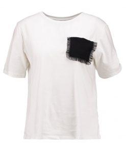 ONLY ONLLUCA  Camiseta print cloud dancer/black pocket