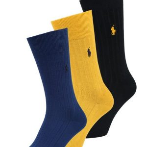 Polo Ralph Lauren EGYPTIAN COTTON SIZED 3 PACK Calcetines bright navy