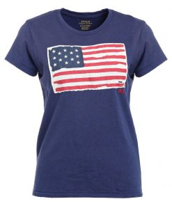 Polo Ralph Lauren FLAG Camiseta print classic royal