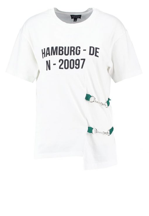 Topshop HAMBURG Camiseta print white