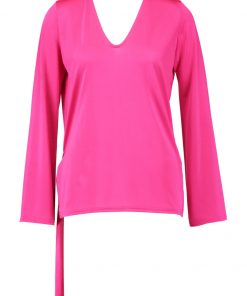Topshop Camiseta manga larga pink