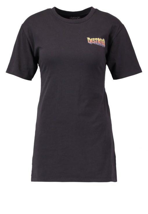 Topshop DESTROYER  Camiseta print washed black