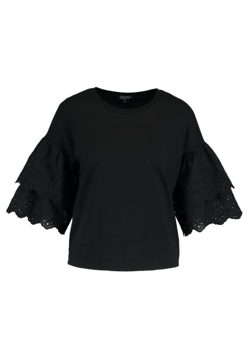 Topshop Camiseta manga larga black