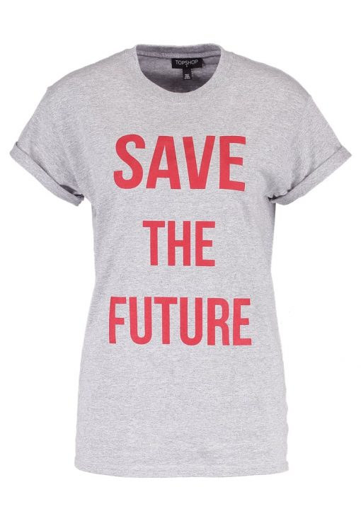 Topshop SAVE THE FUTURE  Camiseta print greymarl