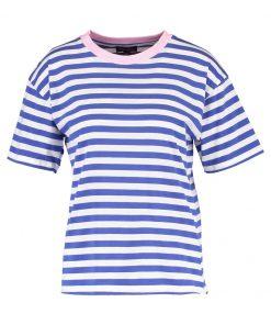 Topshop STRIPE Camiseta print blue