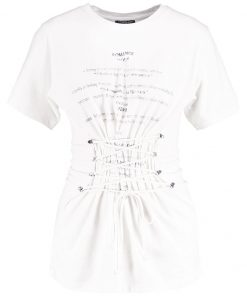 Topshop ROMANCE CORSET Camiseta print cream