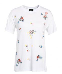 Topshop FLOWER  Camiseta print white