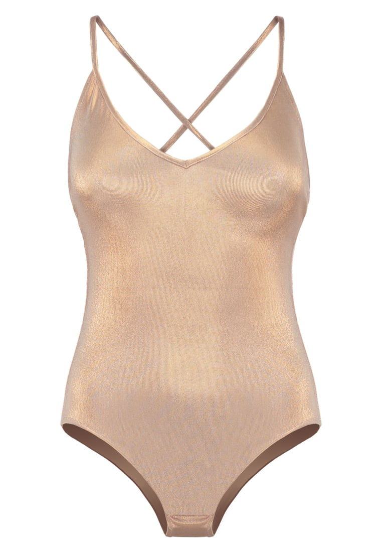 Topshop LAME STRAPPY Top rose