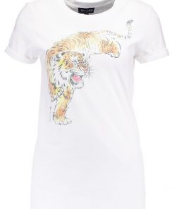 Topshop TIGER GRAPHIC Camiseta print white
