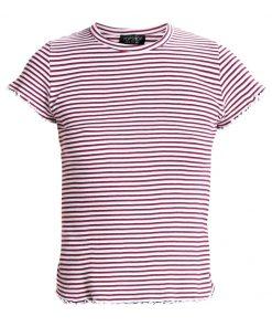 Topshop LETTUCE STRIPE FRILL Camiseta print monochrome