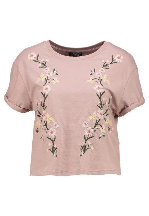Topshop COLOURED  Camiseta print cream