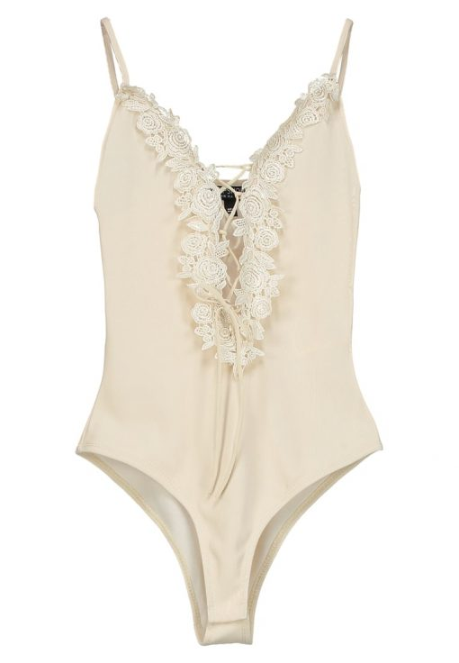 Topshop FLORAL APLIQ Top cream