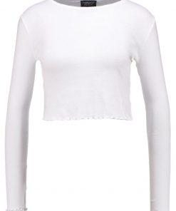 Topshop LETTUCE CROP    Camiseta manga larga white