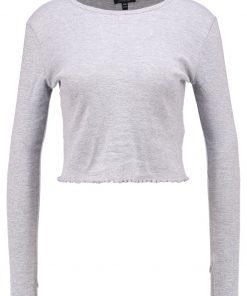 Topshop LETTUCE CROP    Camiseta manga larga greymarl