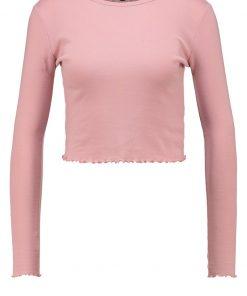Topshop LETTUCE CROP    Camiseta manga larga rose