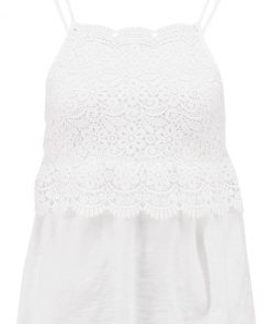 Topshop GUIPURE Top white