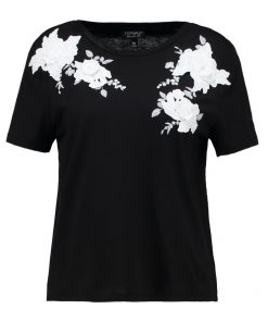 Topshop MONO 3D APPLIQUE  Camiseta print black