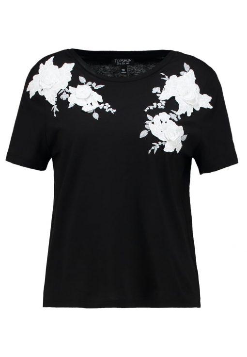 Topshop MONO 3D APPLIQUE  Camiseta print black