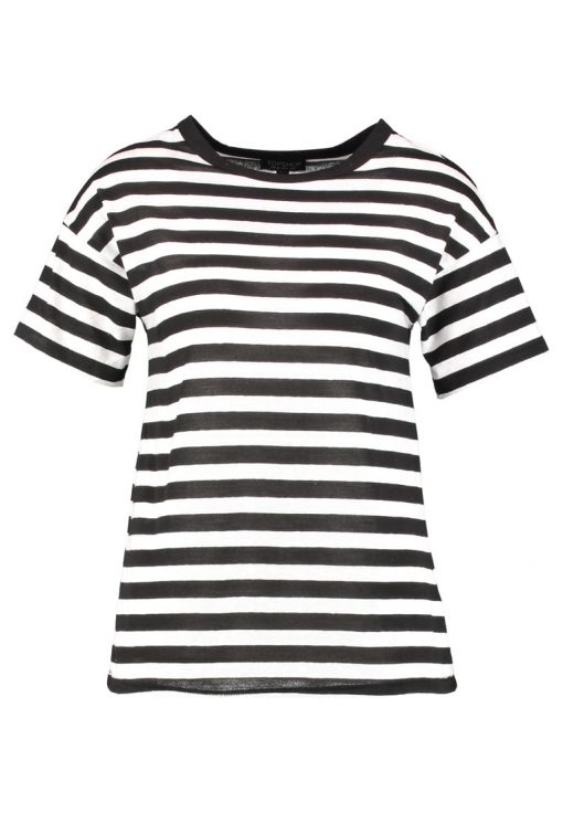 Topshop BOLD STRIPE MARL Camiseta básica mono