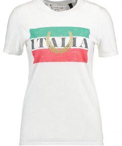 Topshop ITALIA  Camiseta print white