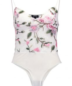 Topshop FLORAL Top cream