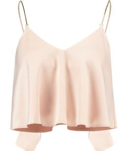 Topshop CHAIN STRAP CAMI Top nude