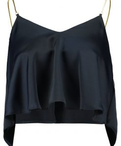 Topshop CHAIN STRAP CAMI Top navy