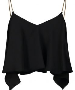 Topshop CHAIN STRAP CAMI Top black
