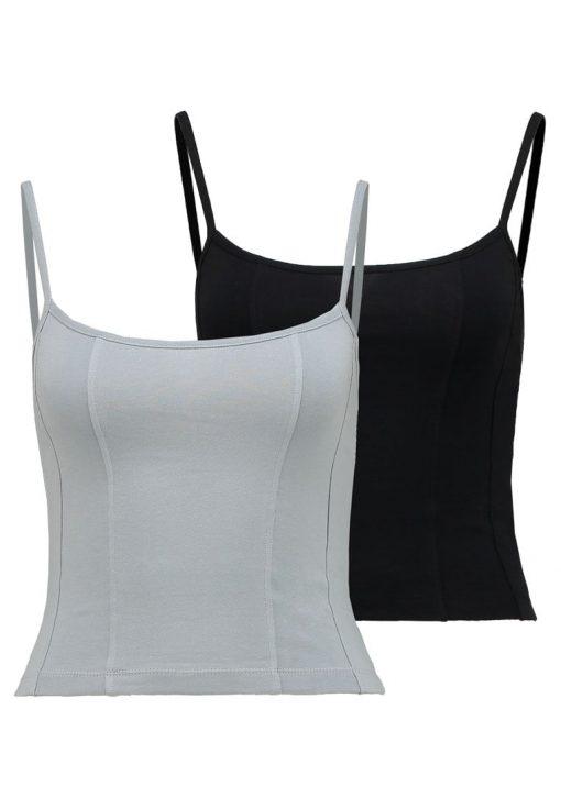 Topshop LUNA CAMI 2 PACK Top black/grey