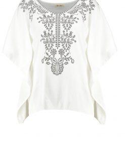 Uno Piu Uno GALATEA Camiseta print ecru