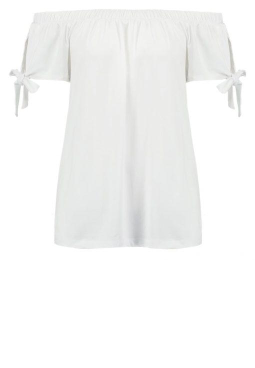 Vila VINASIO Camiseta print snow white