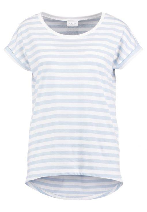 Vila VIDREAMERS PURE LUX Camiseta print celestial blue/snow white