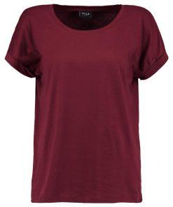 Vila VIDREAMERS PURE Camiseta básica cabernet