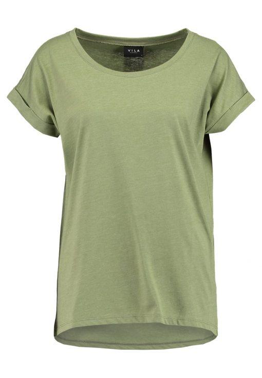 Vila VIDREAMERS PURE Camiseta básica olivine/melange