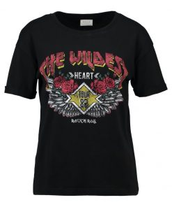 Vila VIBEOBI Camiseta print black