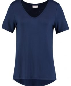 Vila VIFI VNECK Camiseta básica total eclipse