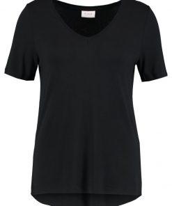 Vila VIFI VNECK Camiseta básica black