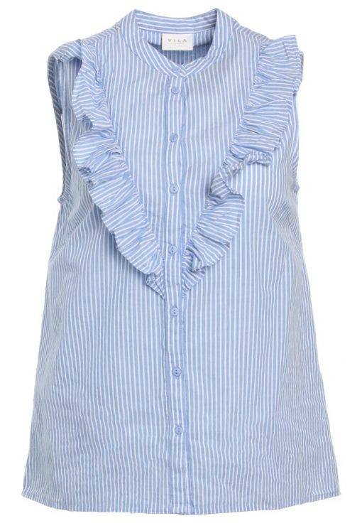 Vila VIPAIRA Camisa light blue/white