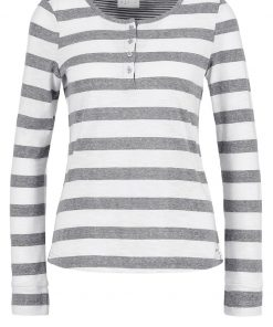 Vero Moda VMDIANA  Camiseta manga larga light grey melange/snow white big