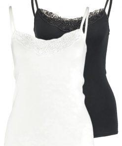 Vero Moda VMNEW RATLI 2 PACK Top bright white/black